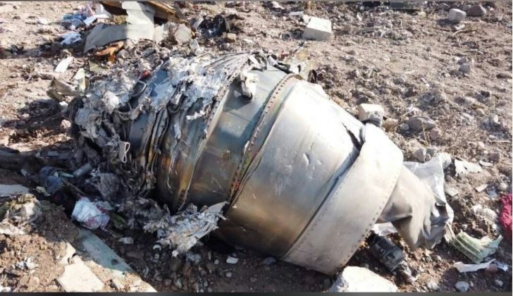 Iran crash site