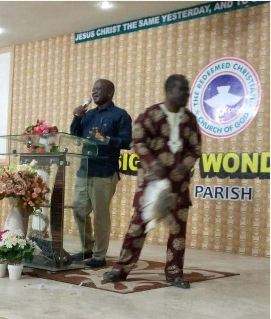 Governor Samuel Ortom and a pastor
