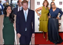 Prince Harry, Meghan Markle, Oprah Winfrey and Gayle King