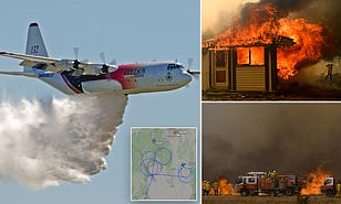 The water bomber plane crashed while fighting wildfire