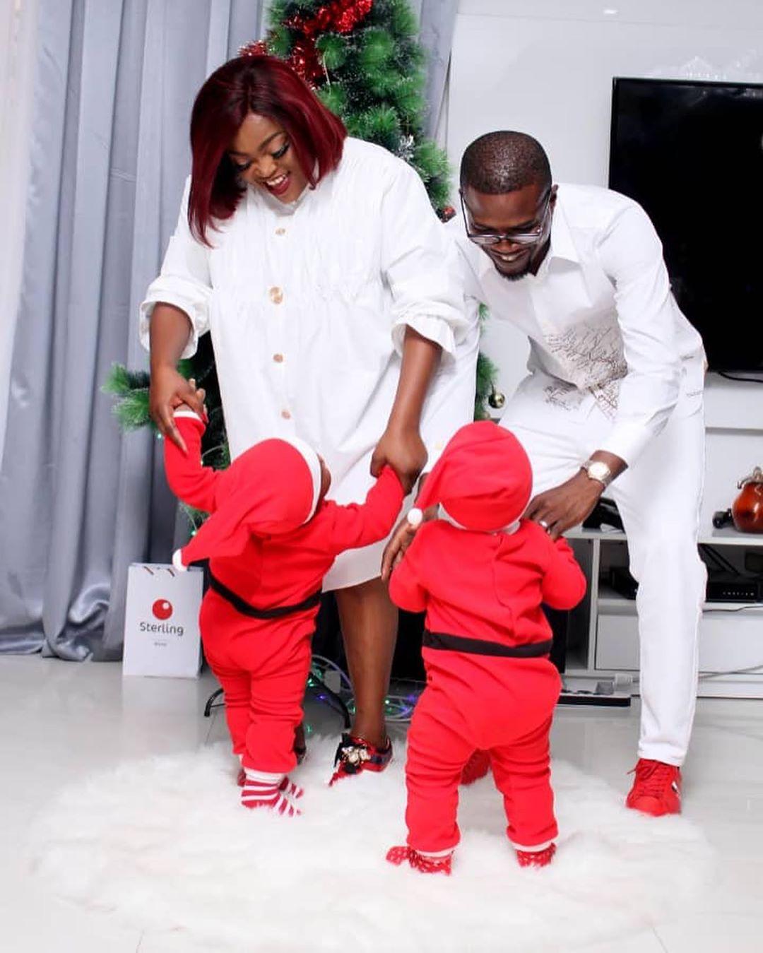 Funke, her husband and twins