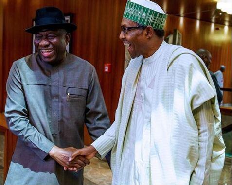 Goodluck Jonathan, President Muhammadu Buhari