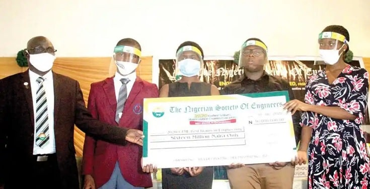 Nigerian Society of Engineers have given N16m for doing well in JAMB