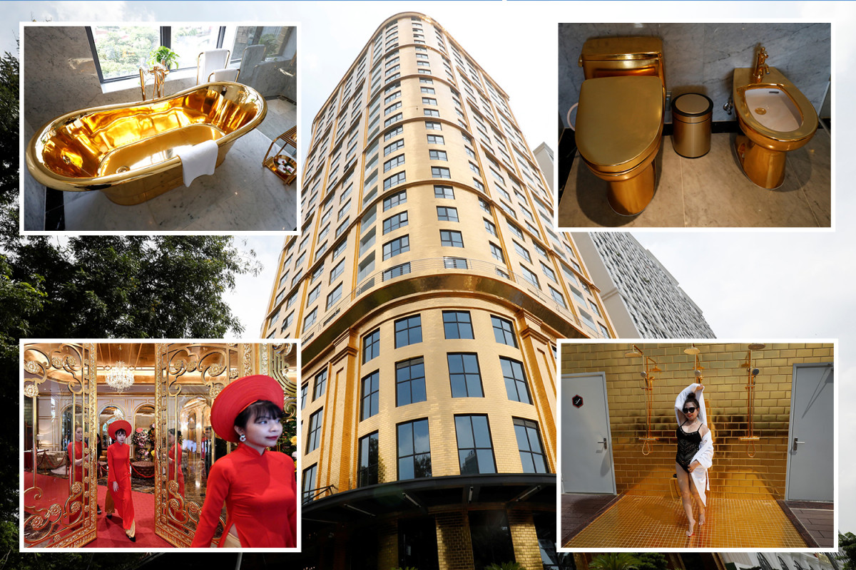Dolce Hanoi Golden Lake hotel made of gold has finally opened