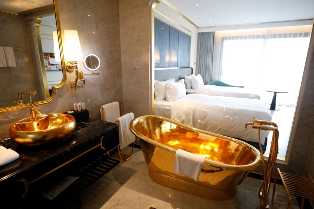 See Beautiful Photos Of The $200m Hotel Made Of Gold In Vietnam