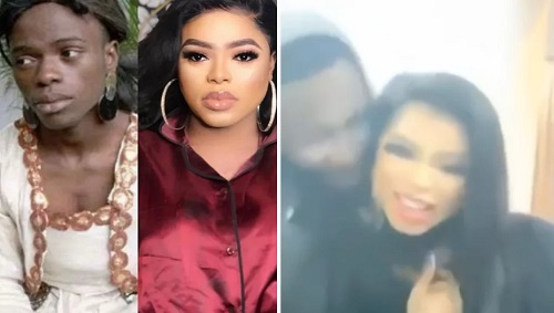 Man caught seriously rocking and romancing Bobrisky