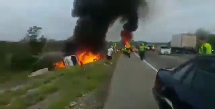 Tanker exploded while people were scooping fuel