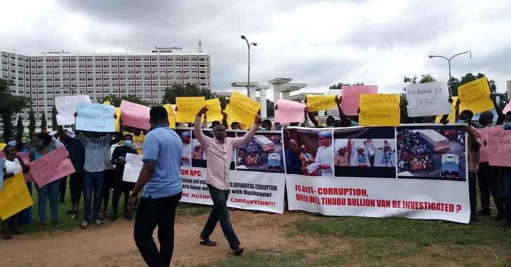 Protesters demand arrest of Bola Tinubu