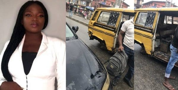 Woman jumps out of speeding bus in Lagos