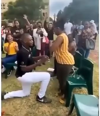 The woman left the man embarrassed after the incident