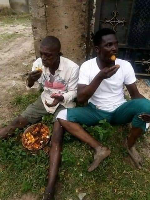 3 Men Carrying Sacrifice Forced To Eat It (Photos) 2