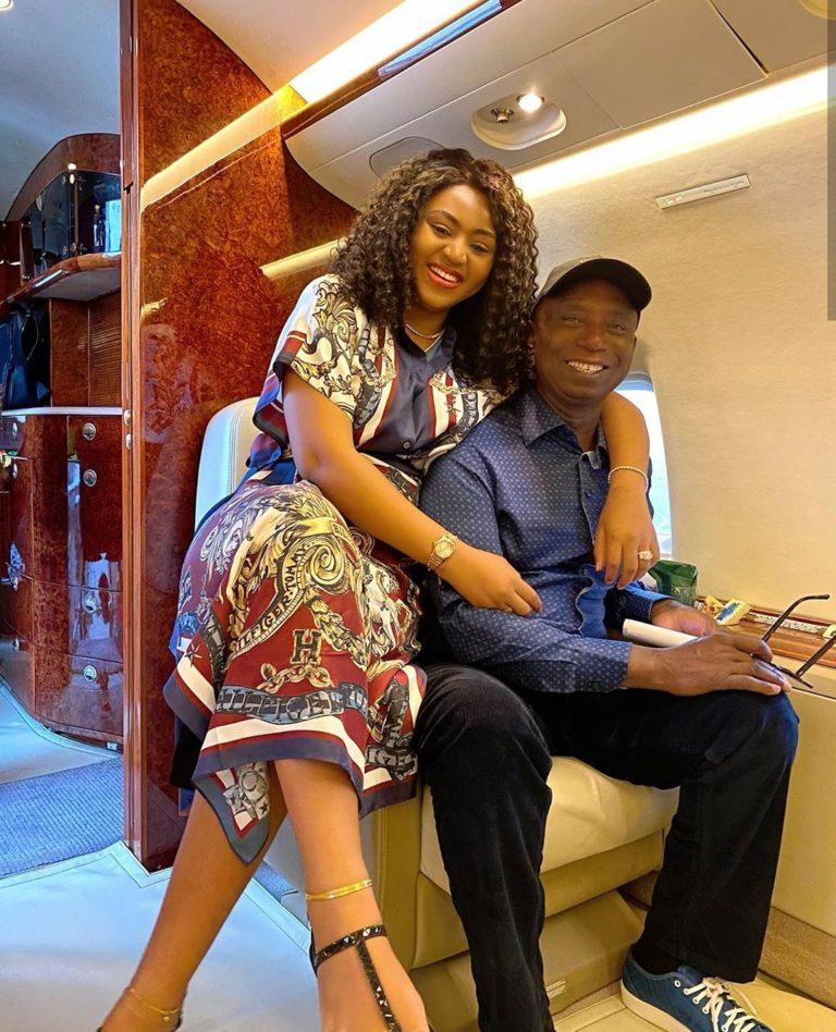 Ned Nwoke and wife, Regina Daniels