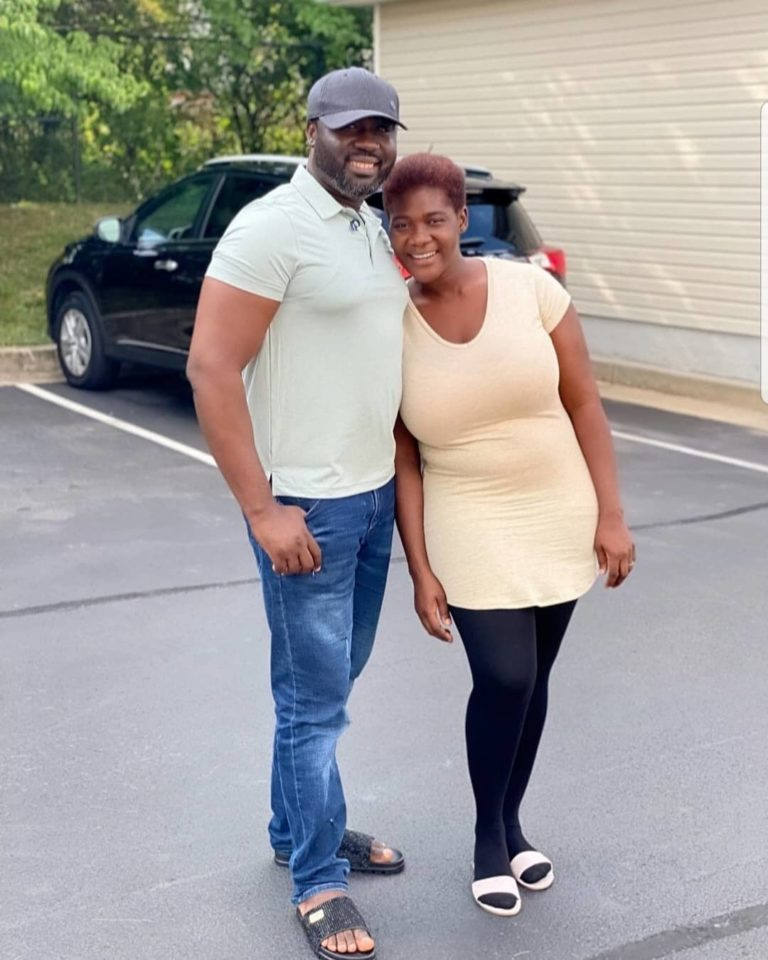 Prince Okojie and wife, Mercy Johnson