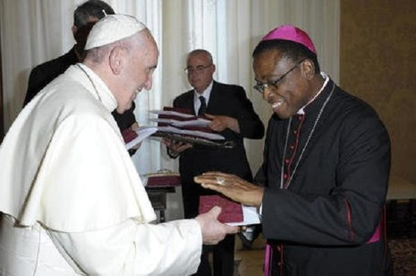 Pope Francis and Bishop Denis Isizoh