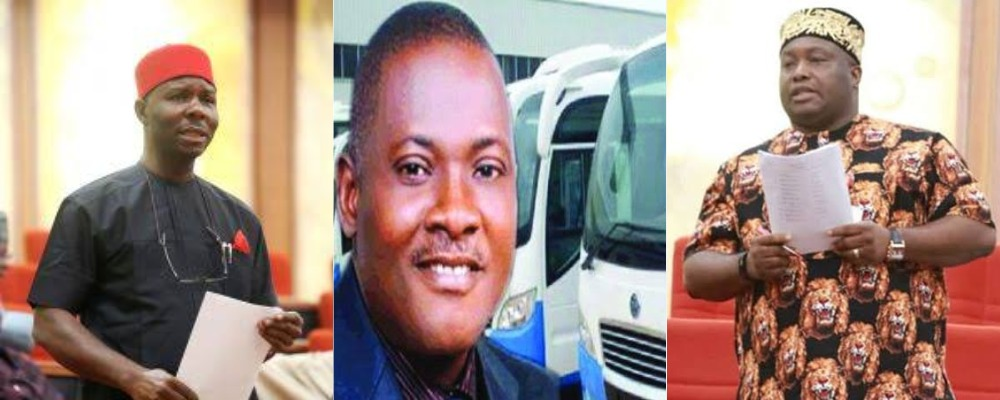 Two Southeast senators Chukwuka Utazi and Ifeanyi Ubah fight on Senate floor