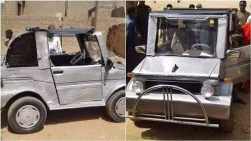 Muhammad Mustapha constructed the car himself