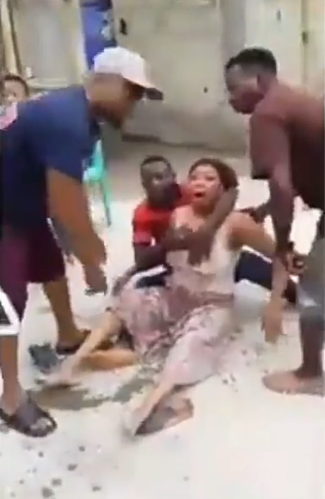 Woman beaten to stupor by the husband