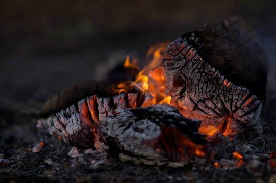 charcoal fumes