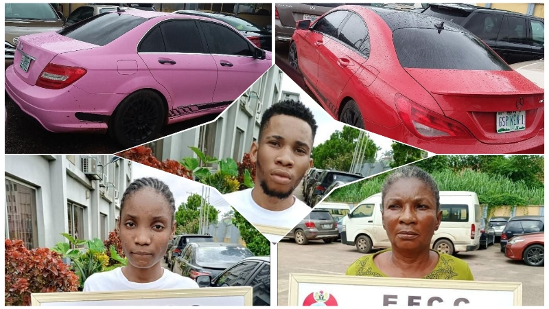 Ken, his girlfriend and mother arrested by the EFCC for fraud
