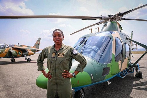 first female combat helicopter pilot in the history of Nigerian Air Force, Tolulope Arotile