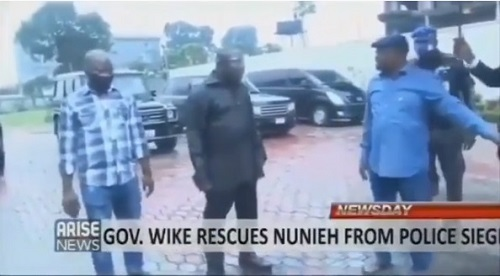 Wike seen ordering police officers out of Joy Nunieh's home