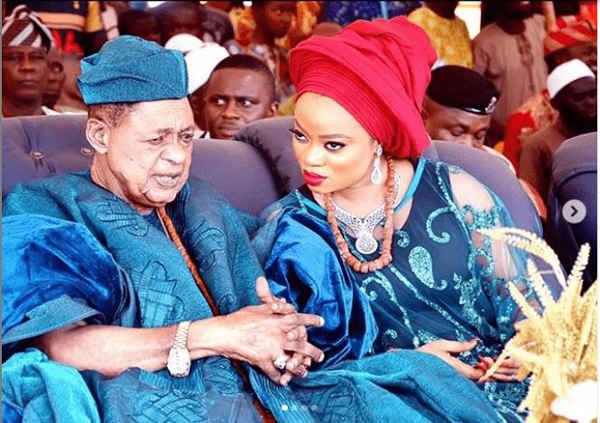Queen Anuoluwapo Adeyemi and husband, Alaafin of Oyo
