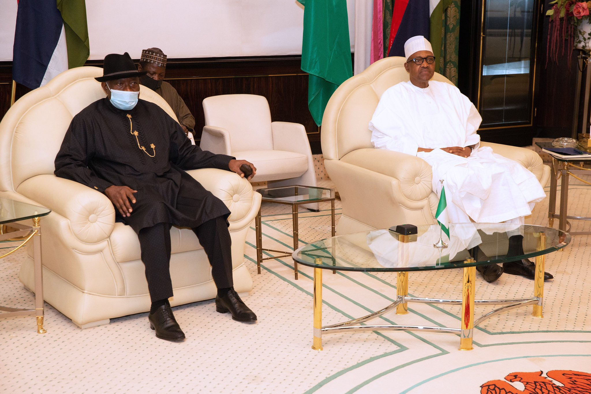 Buhari meets Jonathan in Aso Villa today