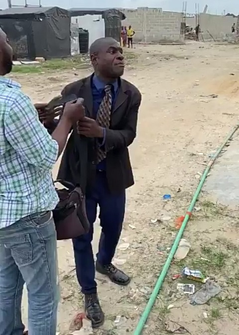 Angry pastor curses man on the street for calling him a beggar
