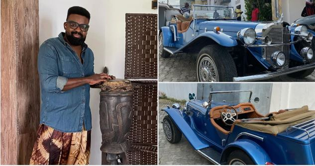 Afolayan shows off his vintage car