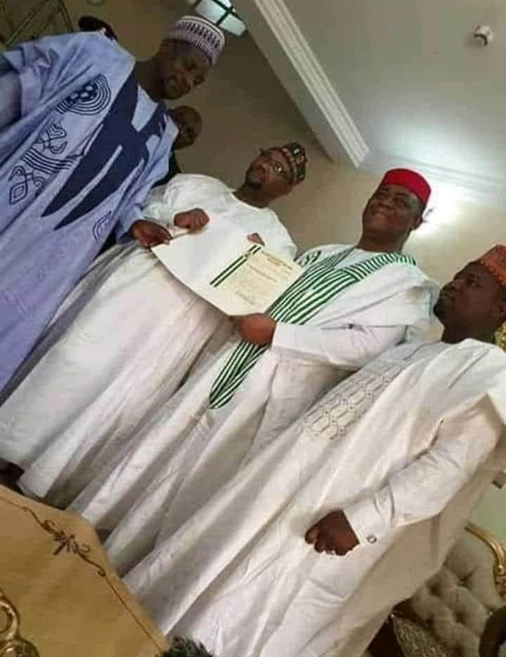 FFK receiving his title