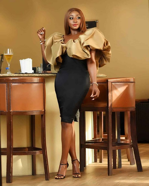 Actress & Political Aide, Ini Edo Puts Her Backside On Display (Photos)
