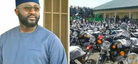 Jika shared cars, motorcycles and keke napeps to constituents