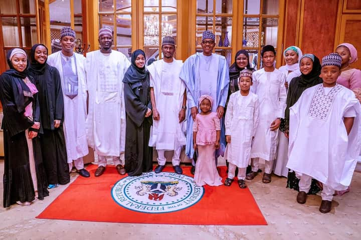 President Buhari and family observe Sallah celebration
