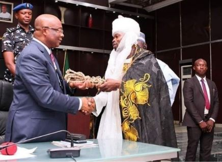 Sulaiman Njoku and Governor Hope Uzodinma of Imo State