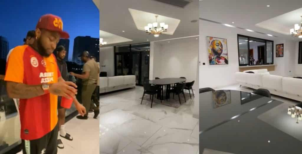 Davido shows off the inside of his mansion