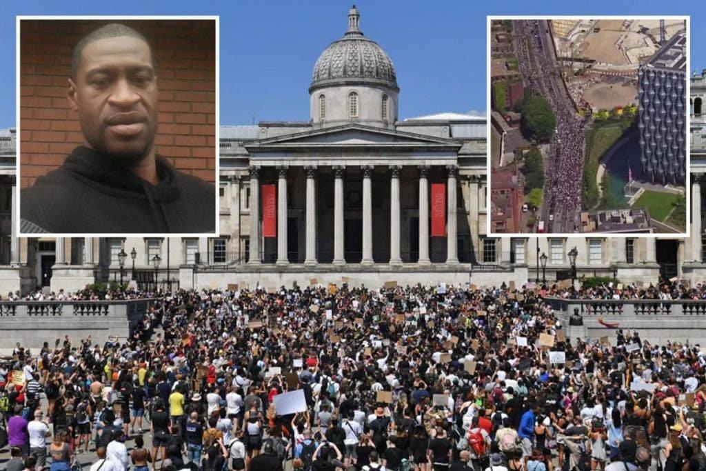 UK residents protest killing of black man, George Floyd