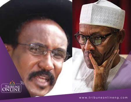 Col. Umar Dangiwa and President Muhammadu Buhari