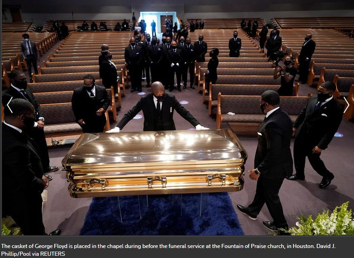 George Floyd has been buried in Houston