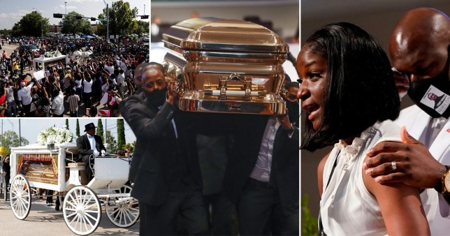 Brooke Williams attacked President Trump during burial of George Floyd