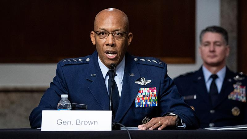 General Brown is the new chief of staff of the US Air Force