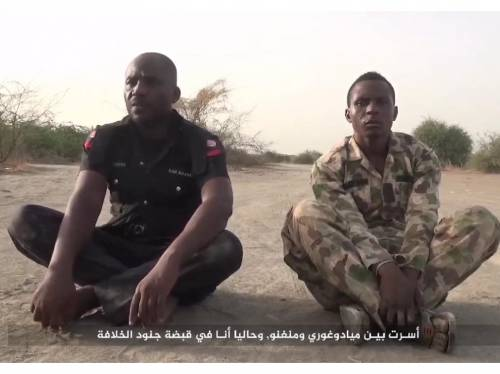 The Nigerian soldier and policeman were executed by the terrorists