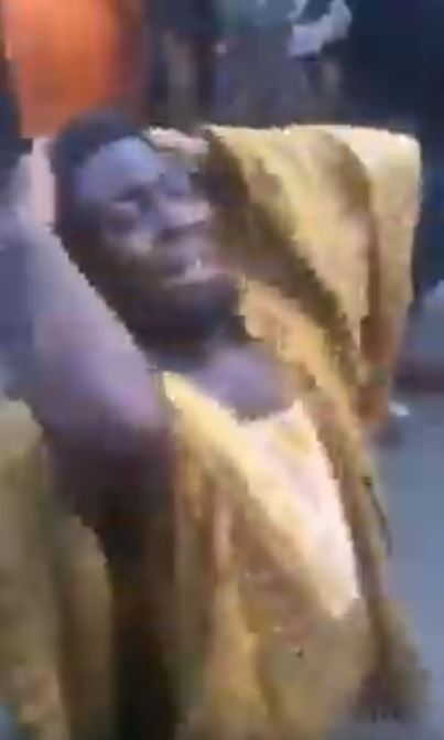 Man wailing after being scammed at computer village