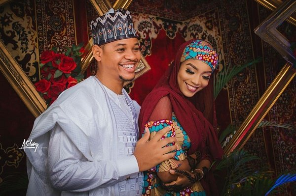 MC Tagwaye and his bride, Hauwa Uwais