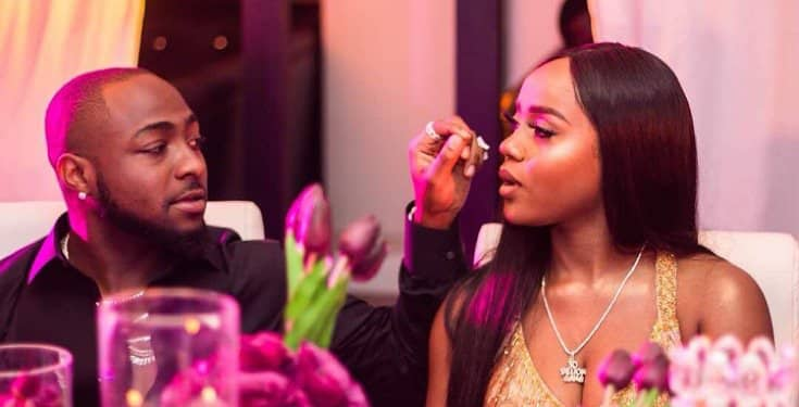 Davido and his lover, Chioma Avril