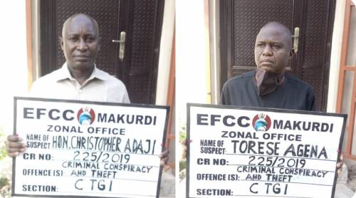 The Deputy Speaker of Benue House of Assembly and the Clerk arraigned for fraud