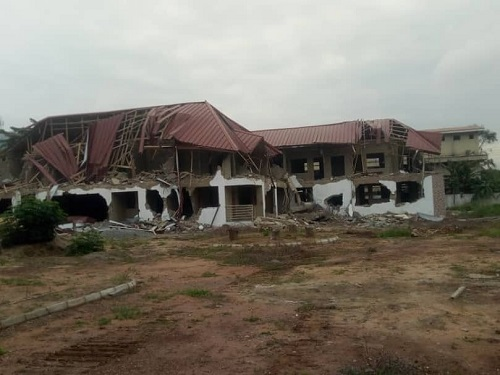 Nigeria High Commission office destroyed in Ghana