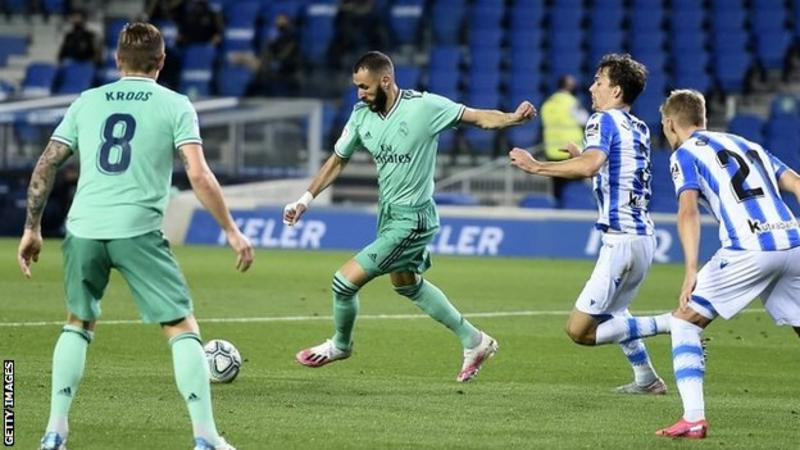 Real Madrid defeated their opponent, Real Sociedad to go top of La Liga
