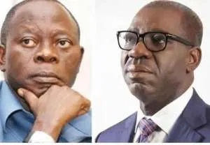 Adams Oshiomhiole and Godwin Obaseki
