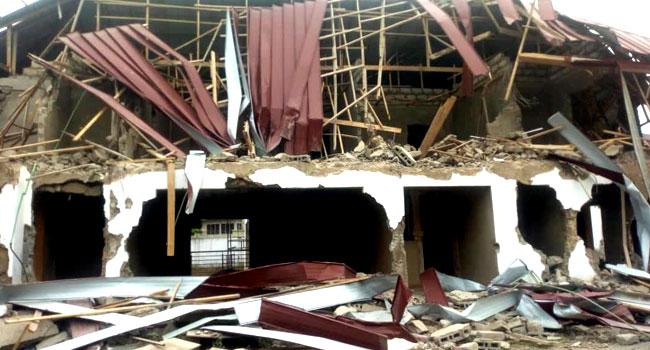 Nigerian embassy building demolished in Ghana