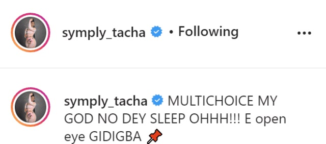 """""""My God No Dey Sleep"""" - Tacha Shades Multichoice After Launching Her Clothing Line"""